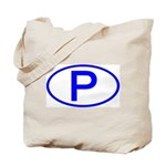 Portugal - P Oval Tote Bag