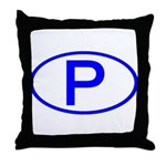 Portugal - P Oval Throw Pillow
