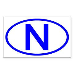 Norway - N Oval Rectangle Decal