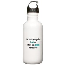 psych nurse fix crazy 2 Water Bottle