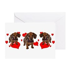 Dachshund Dachsie Puppies Greeting Card