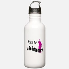 born to shimmy pink.png Water Bottle