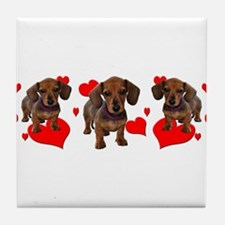 Dachshund Dachsie Puppies Tile Coaster