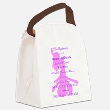 Purple Names of Bellydance.png Canvas Lunch Bag