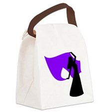 Caravan veil purple.PNG Canvas Lunch Bag