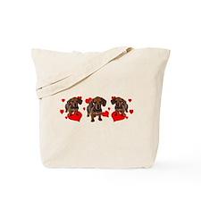 Dachshund Dachsie Puppies Tote Bag