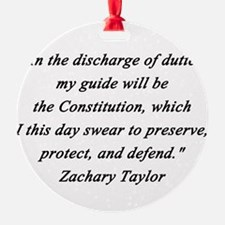 Taylor - Discharge of Duties Ornament