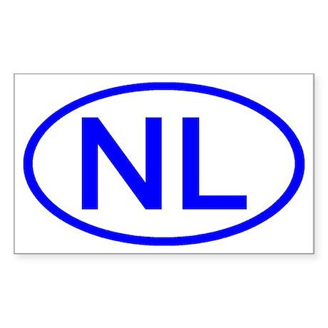 Netherlands - NL Oval Rectangle Sticker