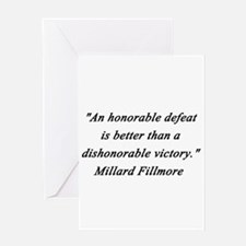 Fillmore - Honorable Defeat Greeting Card