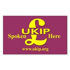 UKIP Spoken Here Oval Decal
