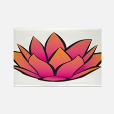 Lotus Rectangle Magnet