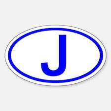 Japan - J Oval Oval Decal