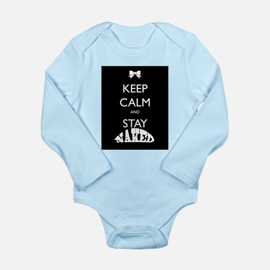 Keep calm and stay naked Body Suit