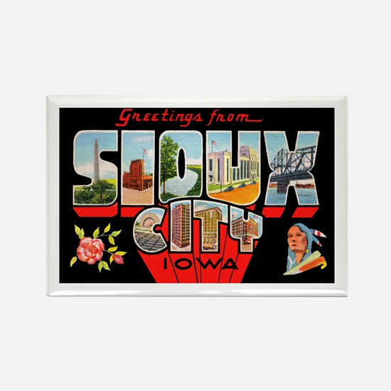 Sioux City Iowa Greetings Rectangle Magnet