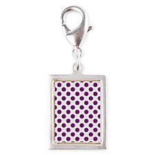 Purple Polka Dots on White Charms