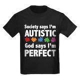 Autism awareness Kids T-shirts (Dark)