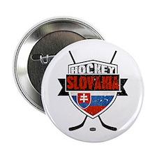 "Hokej Slovensko Hockey Shield 2.25"" Button"