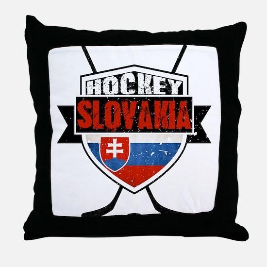 Hokej Slovensko Hockey Shield Throw Pillow