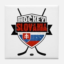Hokej Slovensko Hockey Shield Tile Coaster