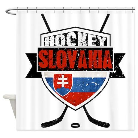 Hokej Slovensko Hockey Shield Shower Curtain