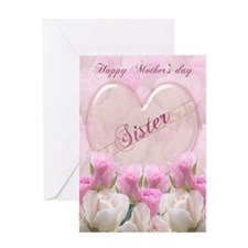 Sister Mother's Day Card With Pink Roses