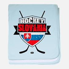 Hokej Slovensko Hockey Shield baby blanket