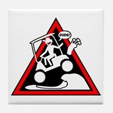 Golf Cart Jumping Danger Signs Tile Coaster