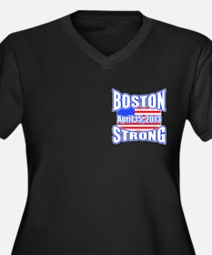 Boston Strong 2013 Women's Plus Size V-Neck Dark T