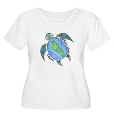 Androsian Turtle Plus Size T-Shirt