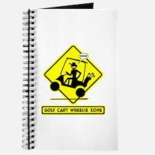 GOLF CART WHEELIE yellow placard Journal