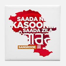 Saada Zila Sangroor T-shirt Tile Coaster