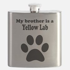 My Brother Is A Yellow Lab Flask