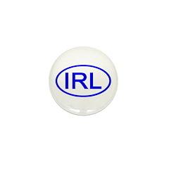 Ireland - IRL Oval Mini Button (100 pack)