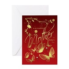 Mother Mother's Day Card Flowers And Butterflies