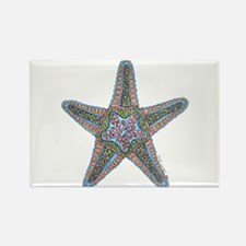 Bubbly Starfish Rectangle Magnet