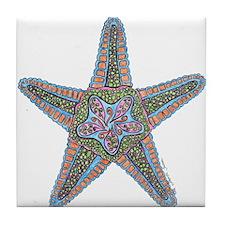 Bubbly Starfish Tile Coaster