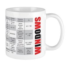Windows keyboard shortcuts Small Mug