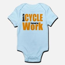 Born to cycle forced to work Body Suit
