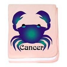 Whimsical Cancer baby blanket