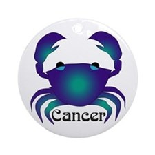 Whimsical Cancer Ornament (Round)