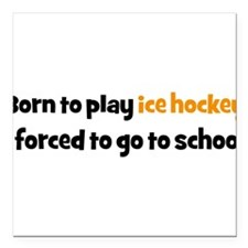 "ice hockey Square Car Magnet 3"" x 3"""
