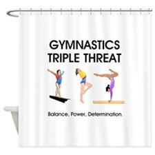 TOP Gymnastics Slogan Shower Curtain