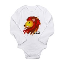 Whimsical Leo Long Sleeve Infant Bodysuit