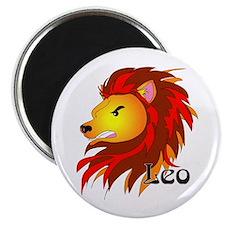 Whimsical Leo Magnet