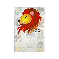 Whimsical Leo Rectangle Magnet