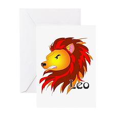 Whimsical Leo Greeting Card