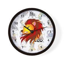 Whimsical Leo Wall Clock