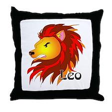 Whimsical Leo Throw Pillow