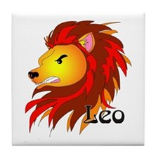 Whimsical Leo Tile Coaster