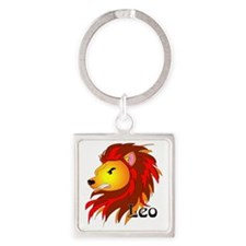 Whimsical Leo Square Keychain